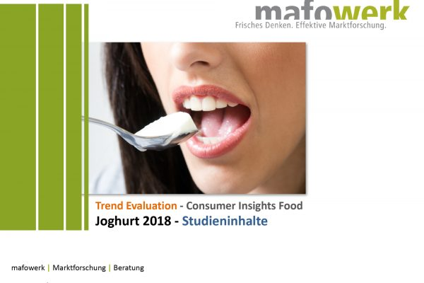 Consumer Insights Joghurt 2018