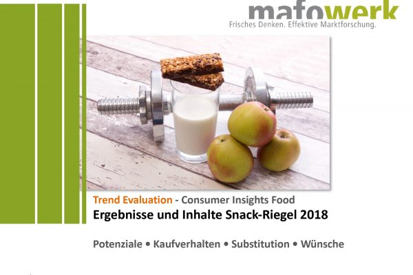 Consumer Insights Snack-Riegel 2018
