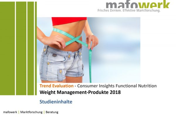 Consumer Insights Weight Management 2018