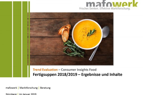 Consumer Insights soups products 2019
