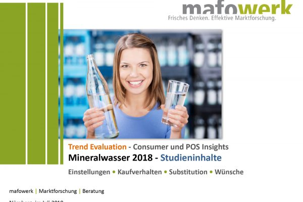 Consumer Insights mineral water 2018