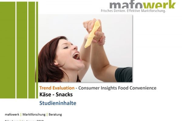 Consumer Insights Käse-Snacks 2017