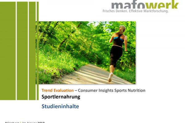 Consumer Insights Sports Nutrition 2017