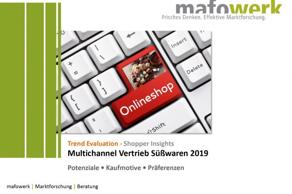 Shopper Insights e-commerce/multichannel: confectionery 2019