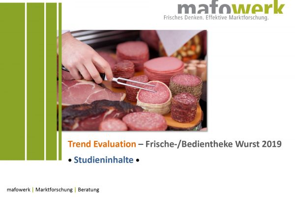 Consumer Insights Bedientheke Wurst 2019