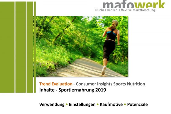 Consumer Insights Sportlernahrung 2019