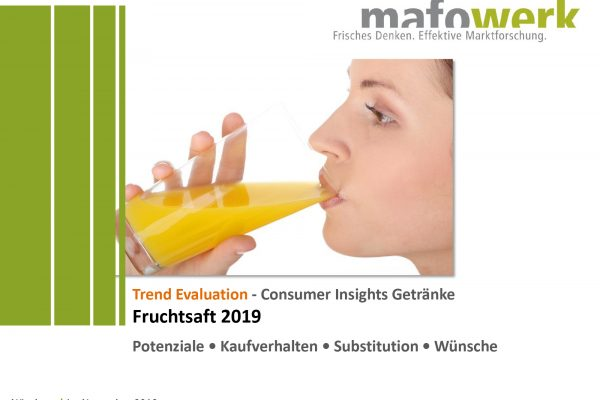 Consumer Insights Fruchtsaft 2019