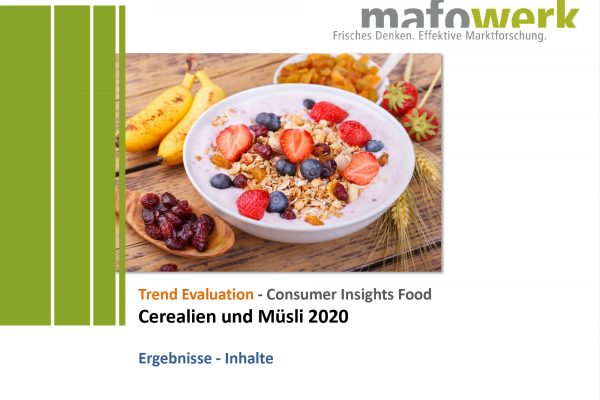 Consumer Insights cereals and granola (muesli) 2020