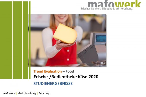 Consumer Insights Frische-/Bedientheke Käse 2020