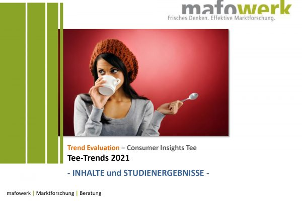 Consumer Insights tea market trends 2021