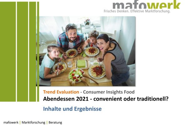 Consumer Insights convenience products/in home dining 2021