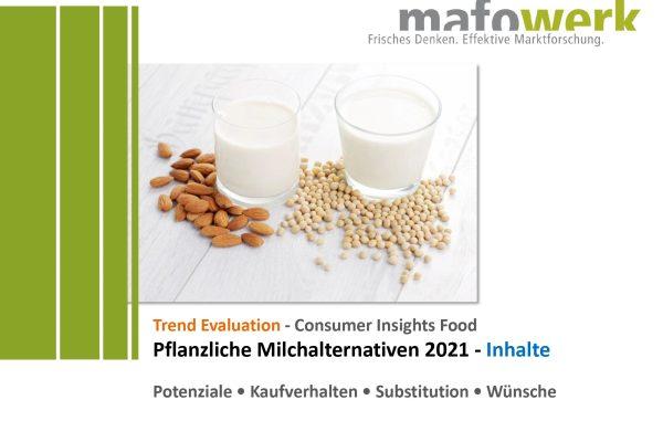 Consumer Insights plant-based milk alternatives 2021
